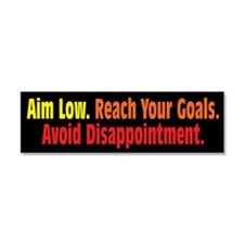 Avoid Disappointment Car Magnet 10 x 3