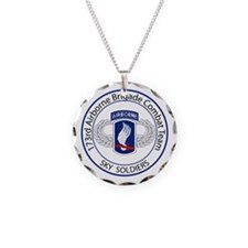 173rd Airborne Sky Soldiers Necklace Circle Charm