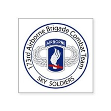 """173rd Airborne Sky Soldiers Square Sticker 3"""" x 3"""""""