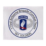 173rd Airborne Sky Soldiers Throw Blanket
