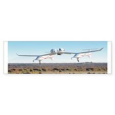 White Knight Landing Bumper Sticker