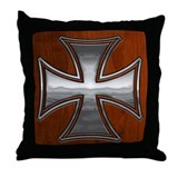 Steel-Wood-Maltese Throw Pillow