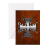 Steel-Wood-Maltese Greeting Cards (Pk of 10)