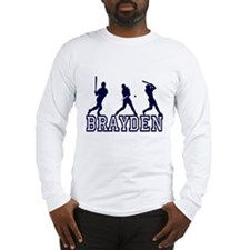 Baseball Brayden Personalized Long Sleeve T-Shirt