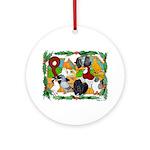 Christmas Pigeons Ornament (Round)