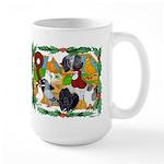 Christmas Pigeons Large Mug
