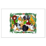 Christmas Pigeons Large Poster