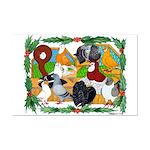 Christmas Pigeons Mini Poster Print