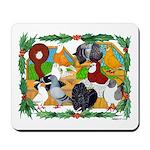 Christmas Pigeons Mousepad