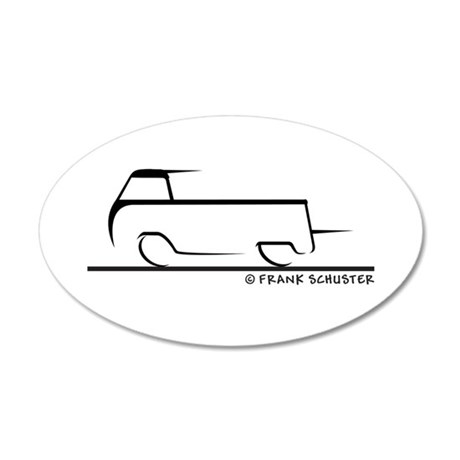 Speedy Single Cab 35x21 Oval Wall Decal