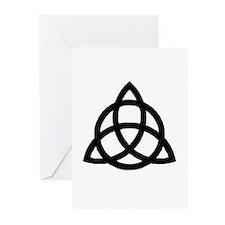 Plain Triquetra Greeting Cards (6)
