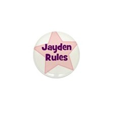 Jayden Rules Mini Button (10 pack)