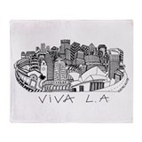 Viva LA in Black White Throw Blanket