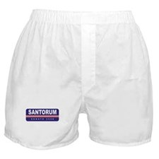 Support Rick Santorum Boxer Shorts