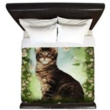 Cat And Rose King Duvet Quilt Cover