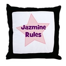 Jazmine Rules Throw Pillow