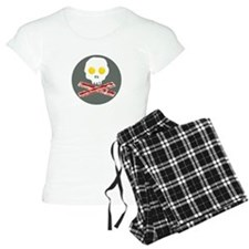 Bacon and Eggs Skull and Crossbones Pajamas
