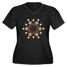 S'mores Snowflake! Women's Plus Size V-Neck Dark T