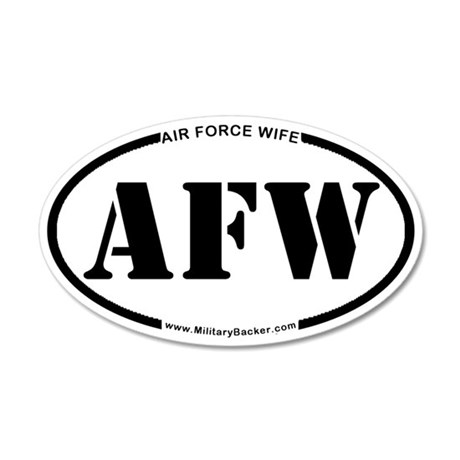 Air Force Wife (Oval) Wall Decal