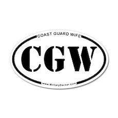 Coast Guard Wife (Oval) 20x12 Oval Wall Decal