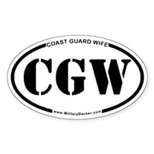 Coast Guard Wife (Oval) Decal