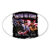 United We Stand Image Rectangle Decal