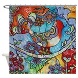 Indian Summer Bird Shower Curtain