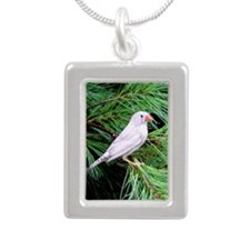 Finch Silver Portrait Necklace