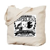 Baby toasting nipples Tote Bag