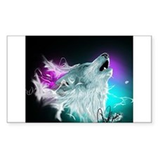 Northern Lights Wolf Spirit Decal