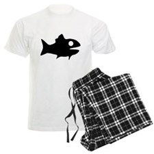 Black Fish Outline Pajamas