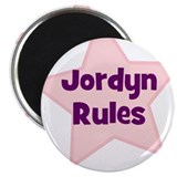 "Jordyn Rules 2.25"" Magnet (10 pack)"
