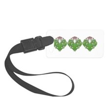Stone Floral Luggage Tag
