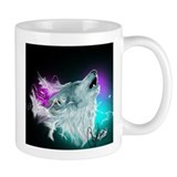 Northern Lights Wolf Spirit Mug