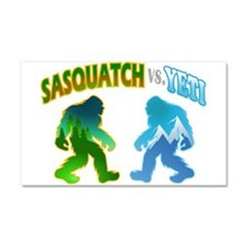 Sasquatch Yeti Match Up Car Magnet 20 x 12