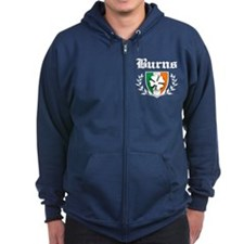 Burns Shamrock Crest Zip Hoody