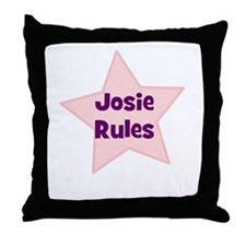 Josie Rules Throw Pillow