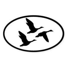 duck hunting oval sticker
