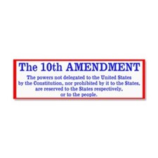 The 10th AMENDMENT Car Magnet 10 x 3