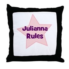 Julianna Rules Throw Pillow
