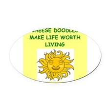 CHEESE Oval Car Magnet