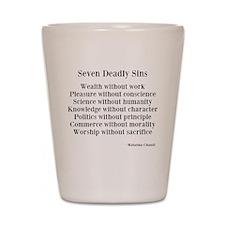 Deadly Sins Shot Glass