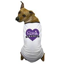 Favorite Aunt Purple Dog T-Shirt