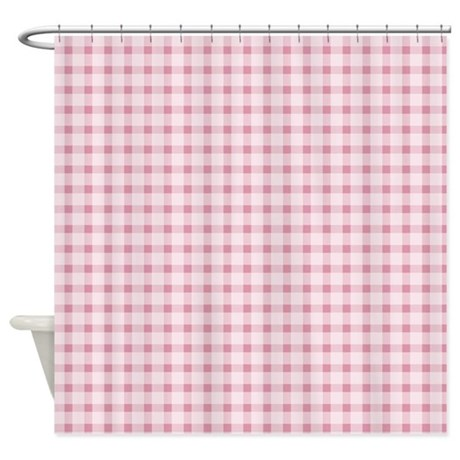 Pink Gingham Shower Curtain By Be Inspired By Life
