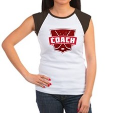 Hockey Coach Shield (red) T-Shirt
