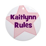 Kaitlynn Rules Ornament (Round)