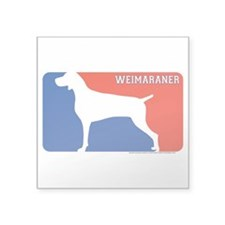 """Weimaraner"" MLD Rectangle Sticker"