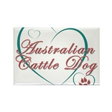 Australian Cattle Dog Love Rectangle Magnet