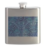 Flask Blue Paisley Pattern/Design