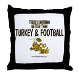 TURKEY & FOOTBALL Throw Pillow